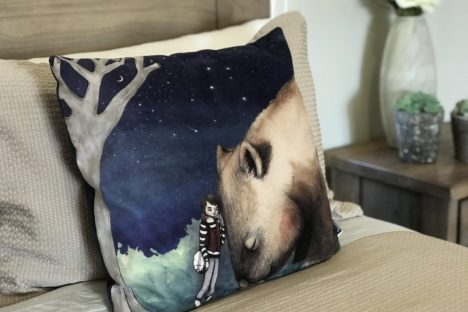 Cute Australiana Wildlife Cushion Cover With Original Art By Flossy-p